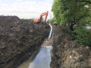 2017年桐乡市乌镇非开挖过路岩盾供水管线工程